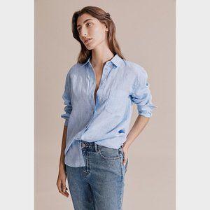Country Road Light Blue Organic Linen Shirt 8